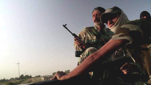 Iraqi troops near Baghdad