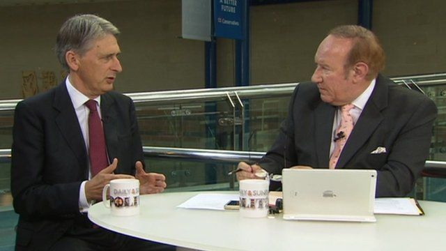 Philip Hammond and Andrew Neil