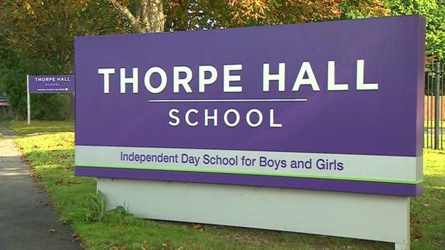 Thorpe Hall School sign