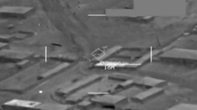 US military releases new footage of air strikes against IS