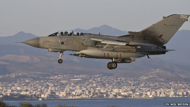 RAF Tornado returning to Cyprus after carrying out first strikes on IS targets in Iraq