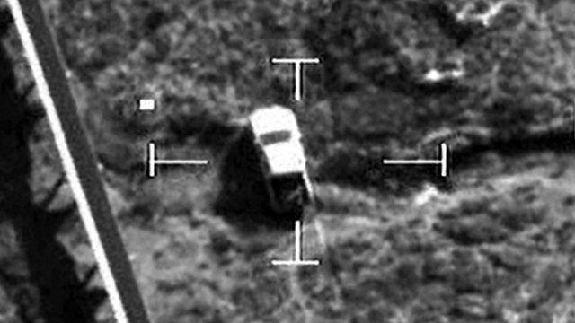 Cockpit video of RAF targeted vehicle