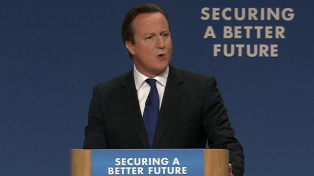 David Cameron gives conference speech