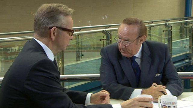 Michael Gove and Andrew Neil