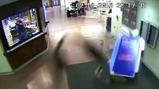 Cash point pulled from the floor by ram raiders