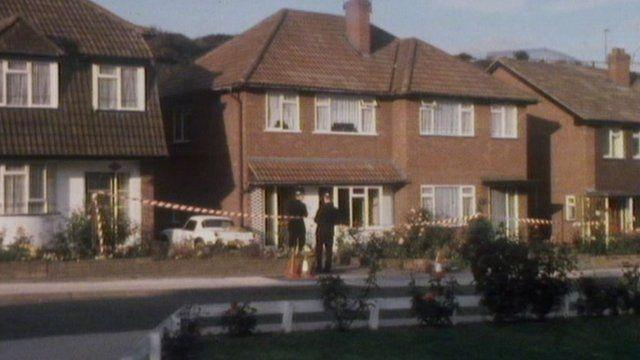 Crime scene on Andrew Road in 1978