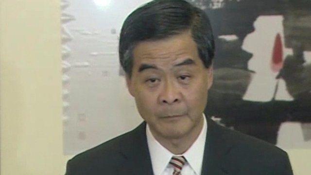 Hong Kong's Chief Executive CY Leung