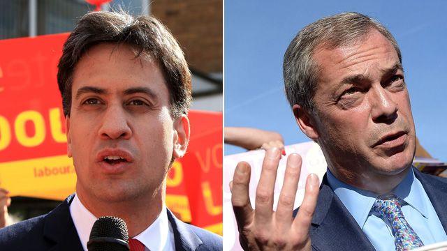 Ed Miliband and Nigel Farage
