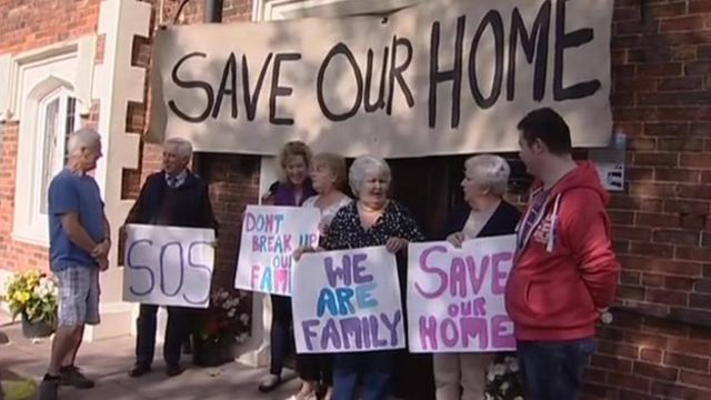 Supporters of the Homestead care home in Kinver