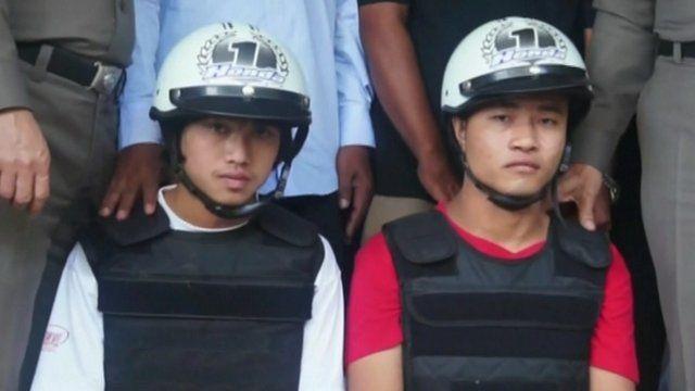 Suspects in British murders case in Thailand