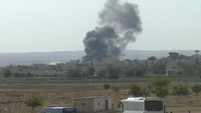 Smoke over Kobani