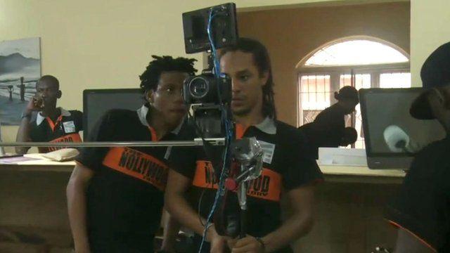 Nollywood film crew