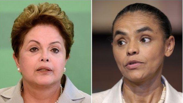 President Dilma Rousseff and Marina Silva