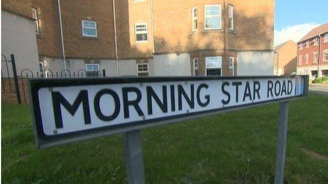 Morning Star Road street sign, Daventry