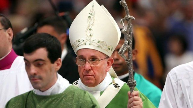 Pope attends Mass as synod meets