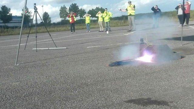 Joseph Whitaker School pupils filmed the attempt