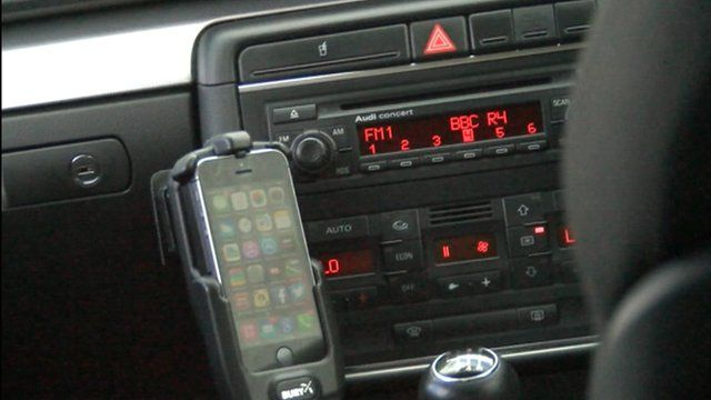 Mobile phone in a car