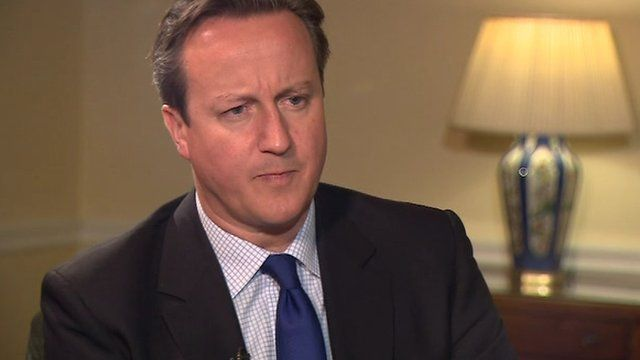 "Mr Cameron said it was right to ""bring people together, to try and find a local solution"""