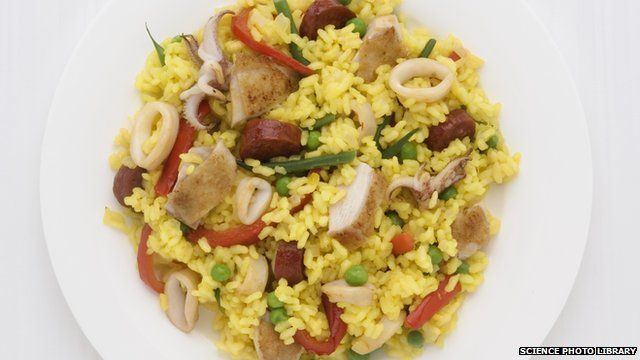A paella meal