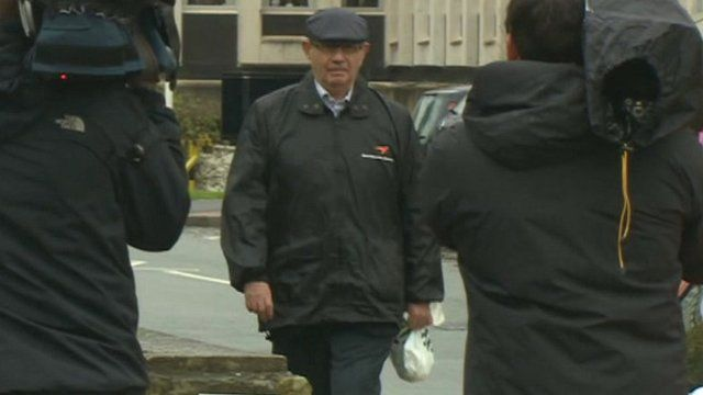 John Allen arrives at court