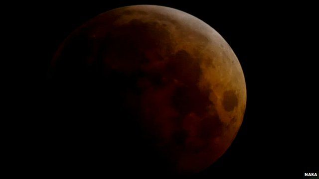Lunar eclipse. 8 Oct 2014