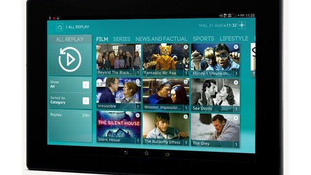 EE TV on tablet