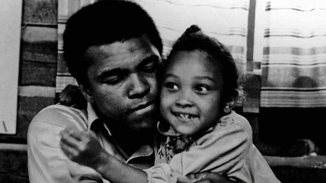 Mohammed Ali and daughter