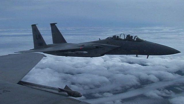 Crashed F-15D from RAF Lakenheath in flight