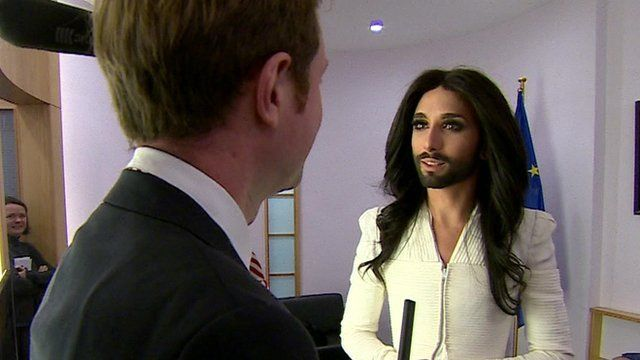 Adam Fleming with Conchita Wurst
