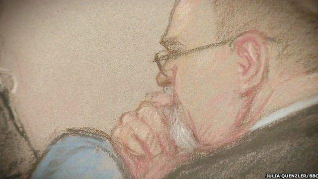 Eddie Graham court sketch