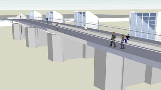 The new bridge will improve access for cyclists, but some have questioned its cost