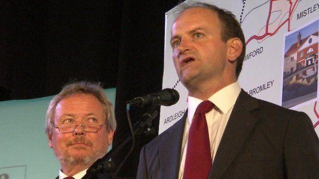 UKIP's Douglas Carswell with Tory candidate Giles Watling