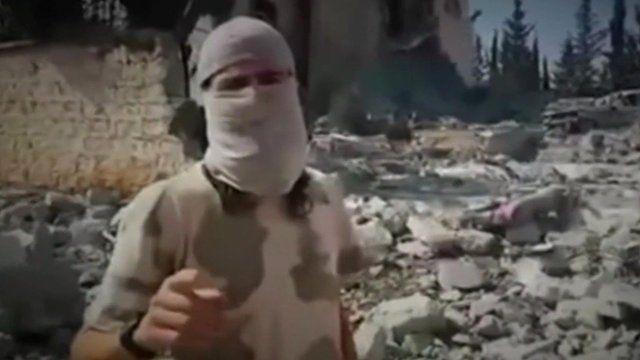 Jihadi figure in video