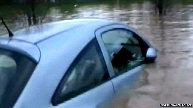 Police footage of St Asaph flooding