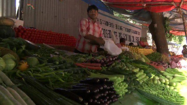 Indian market stallholder
