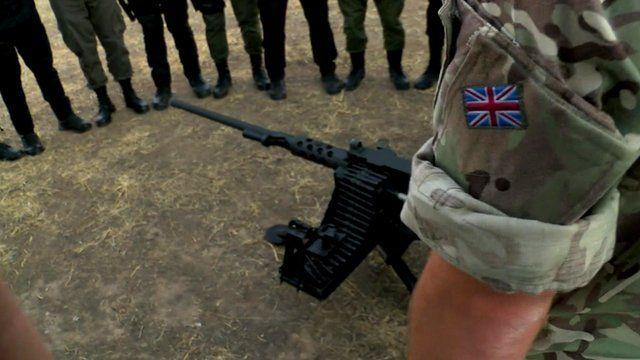 UK army training Kurdish troops in Iraq