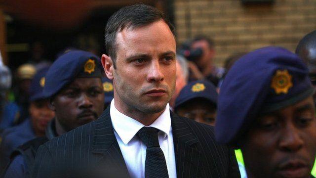 Oscar Pistorius leaving court on Tuesday