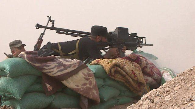 Volunteer Salam Brigade fighters between Baghdad and Mosul