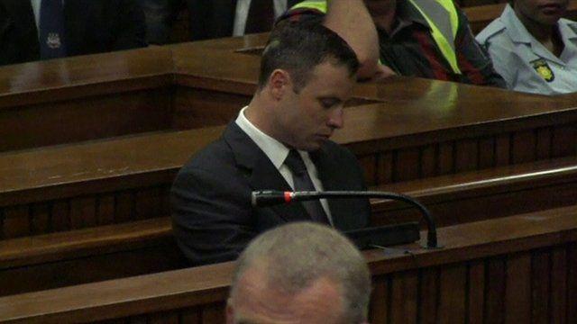 Oscar Pistorius in the dock