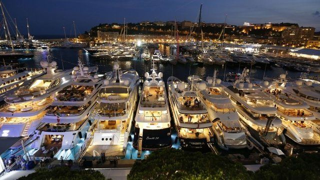 A general view shows yachts at Port Hercules during the 24th edition of the International Monaco Yacht Show in Monaco, 25 September 2014