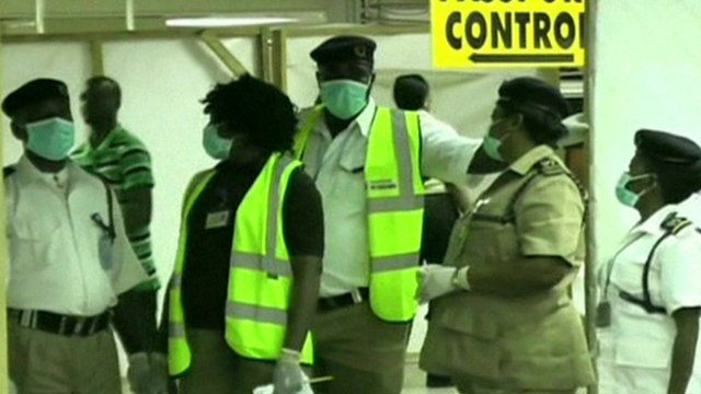 Health workers in protective gear