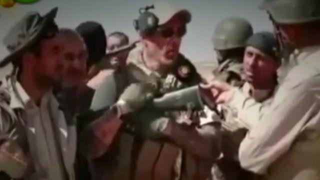 A member of 'No Surrender' on Kurdish TV