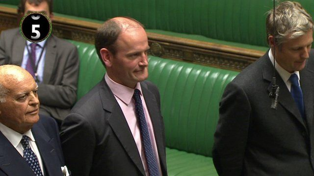 Douglas Carswell arrives in the Commons