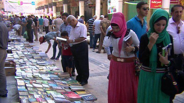 Baghdad's weekly book market
