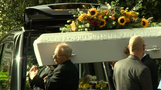 Pall bearers at Mary Shipstone's funeral