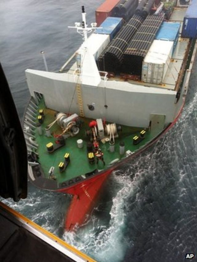 Drifting Russian fuel ship is towed away from Canada coast