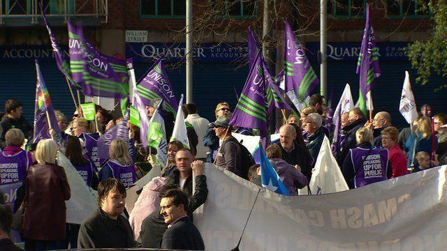 Trade union protest