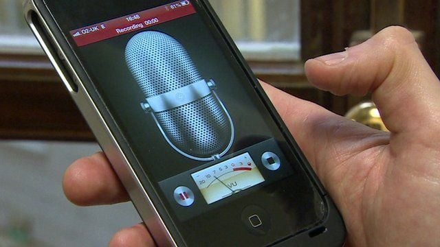 Smartphone used to make a recording