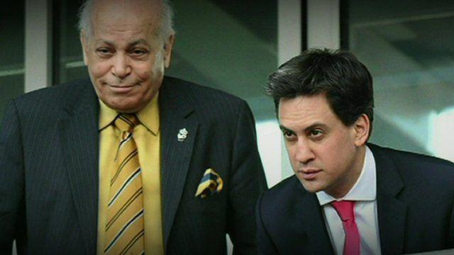 Assem Allam and Ed Miliband