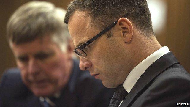 Oscar Pistorius attends court on 17 October 2014
